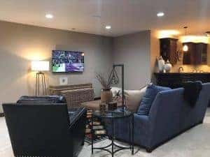 family room entertainment system